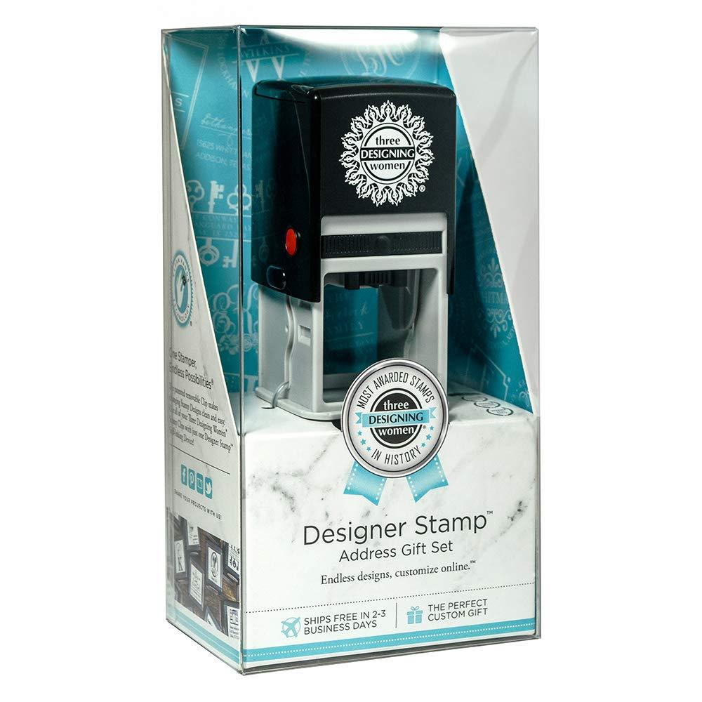Three Designing Women Custom Designer Address Self-Inking Stamp (4-Pack)