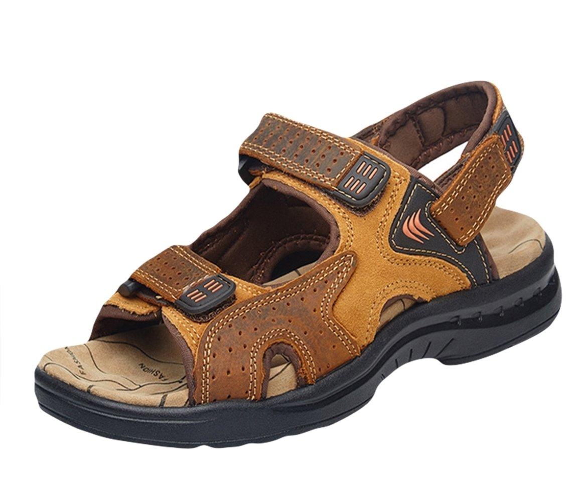 Insun Sandalias de Verano para Hombres Zapatos Perfecto para Caminar Al Aire Libre 42 EU|Marrón 1
