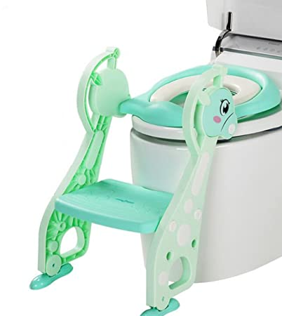 a2d479f260872 Amazon.com   Potty Training Seat for Girls Boys with Anti-Skid Feet and  Adjustable Ladder