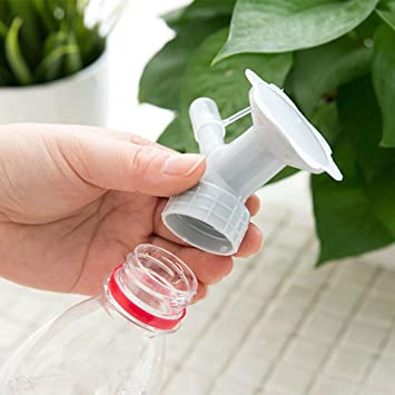 Starlit 2Pcs Mini Hand Portable Watering Sprinkler Waterers Bottle Spout Nozzle Cap Converter Garden Plant Spray Watering Sprinkler Nozzle Head Random