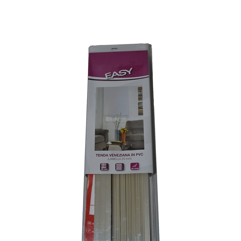 EMMEBI Tenda veneziana veneziane in PVC 60 x 160 cm lamella 25 mm orientabili tortora beige