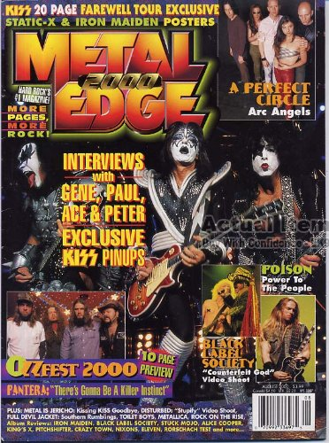 Metal Edge Magazine KISS Static-X IRON MAIDEN Rayna for sale  Delivered anywhere in USA