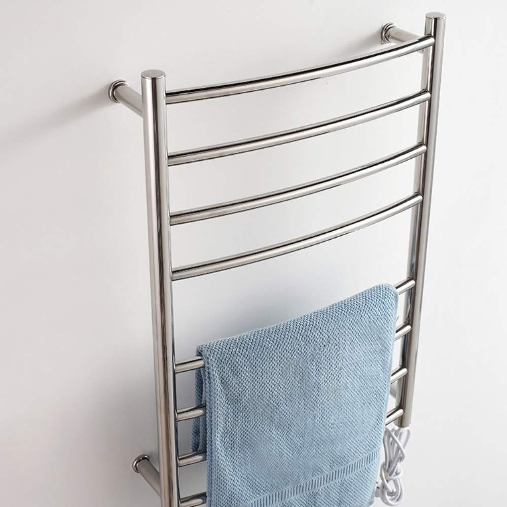 Four Rail Radiator Electric Towel Thermostatic Bathroom Heated Chrome 780520125mm 102 W