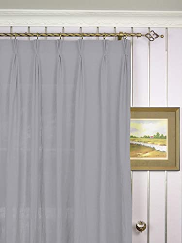 CASA COUTURE Triple Pinch Pleated Blackout Curtains Blinds Polyester