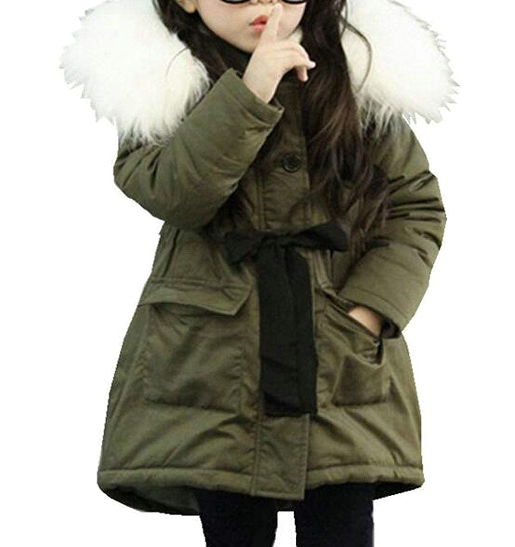 Cromoncent Girl Cute Hoodie Winter Slim Fit Thick Warm Parkas Coats