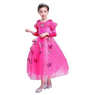 Labellevie Niñas Vestido de Princesa Disfraz de Princesa ...