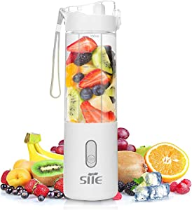 SITE Portable Blender For Shakes And Smoothies Personal Mini Small Electric Handheld Blender Mixer Usb Rechargeable 350 ML (White)