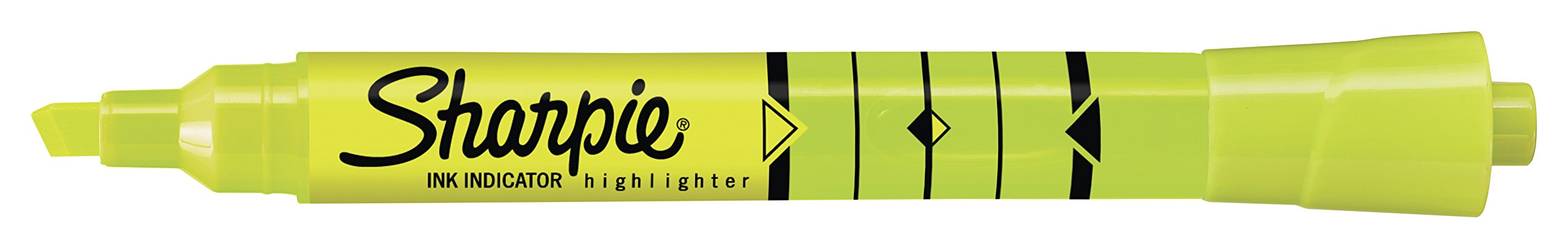 Sharpie Ink Indicator Tank Highlighters, Chisel Tip, Fluorescent Yellow, 12 Count by Sharpie (Image #3)