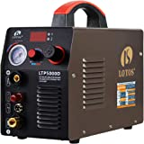 Lotos LTP5000D 50Amp Non-Touch Pilot Arc Plasma Cutter, Dual Voltage 110V/220V, 1/2 Inch Clean Cut, Bronze