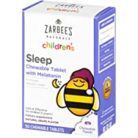 Zarbee's Naturals Children's Sleep with Melatonin Supplement, Natural Grape Flavor...