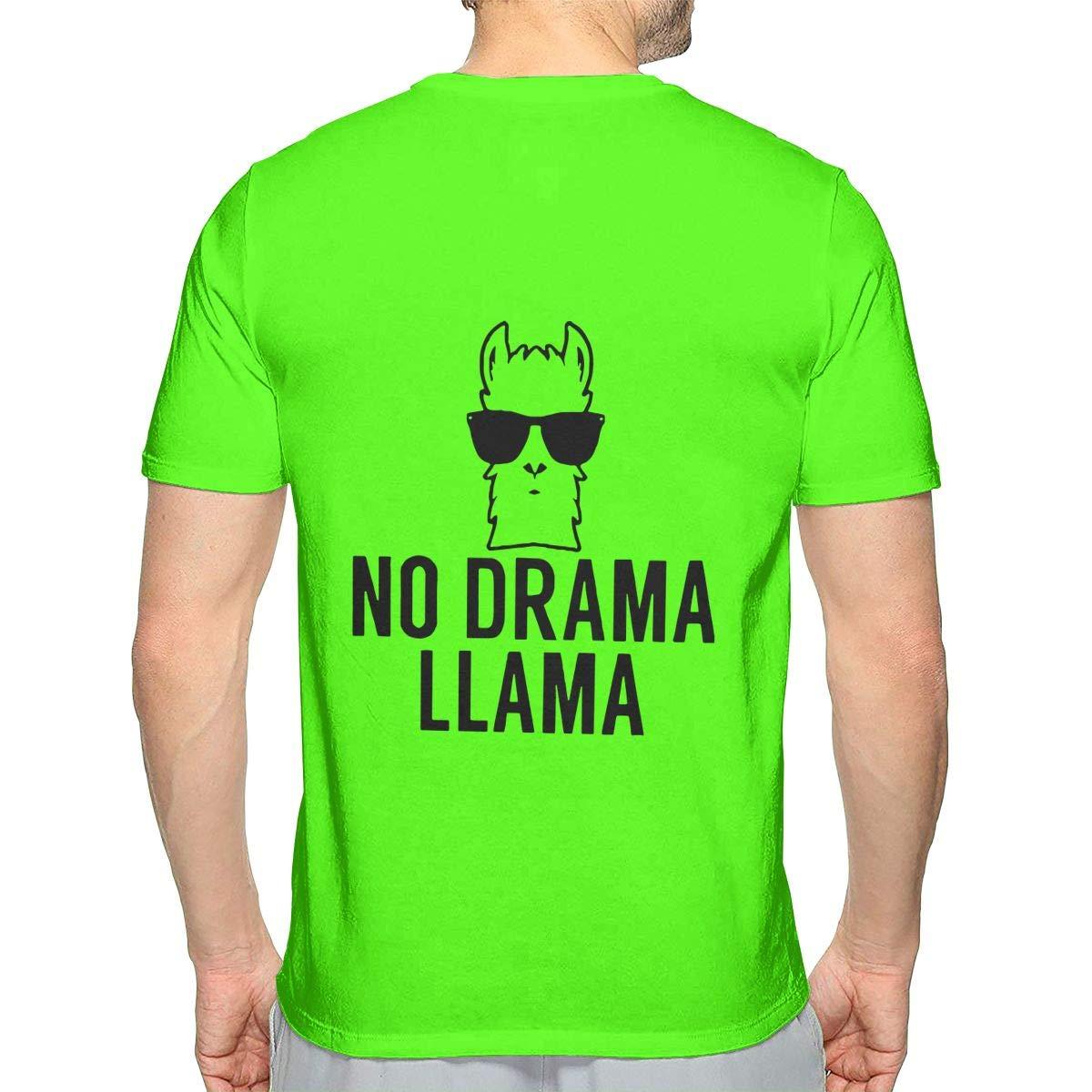 No Drama Llama Mens Style Short-Sleeved T Shirts
