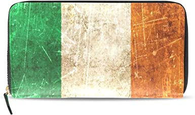 Irish tricolour leather card holder wallet