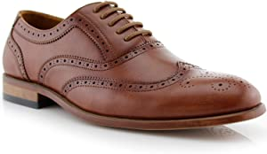 Ferro Aldo MFA19618L Men's Lace Up Perforated Casual Formal Wingtip Dress Shoes