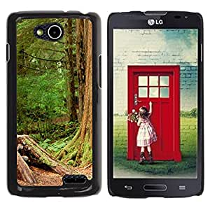 Paccase / SLIM PC / Aliminium Casa Carcasa Funda Case Cover - Plant Nature Forrest Flower 110 - LG OPTIMUS L90 / D415