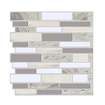 FAM STICKTILES Peel and Stick Tile Backsplash for Kitchen//Bath Stick on Tiles x
