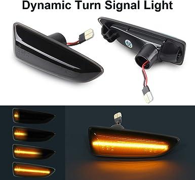 Dynamic Turn Signal Light Gempro Side Marker Flowing Side Indicators Smoke For O-pel V-auxhall Astra J Astra J K Zafira C Insignia B Grandland X