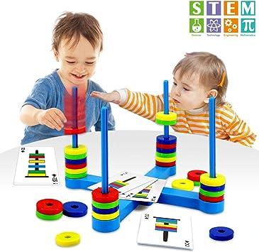 VATOS Juguete magnético, Juguete Educativo para niños de 3 años+, Magnético Juguete de Juego de Mesa para Niños o Adultos: Amazon.es: Juguetes y juegos