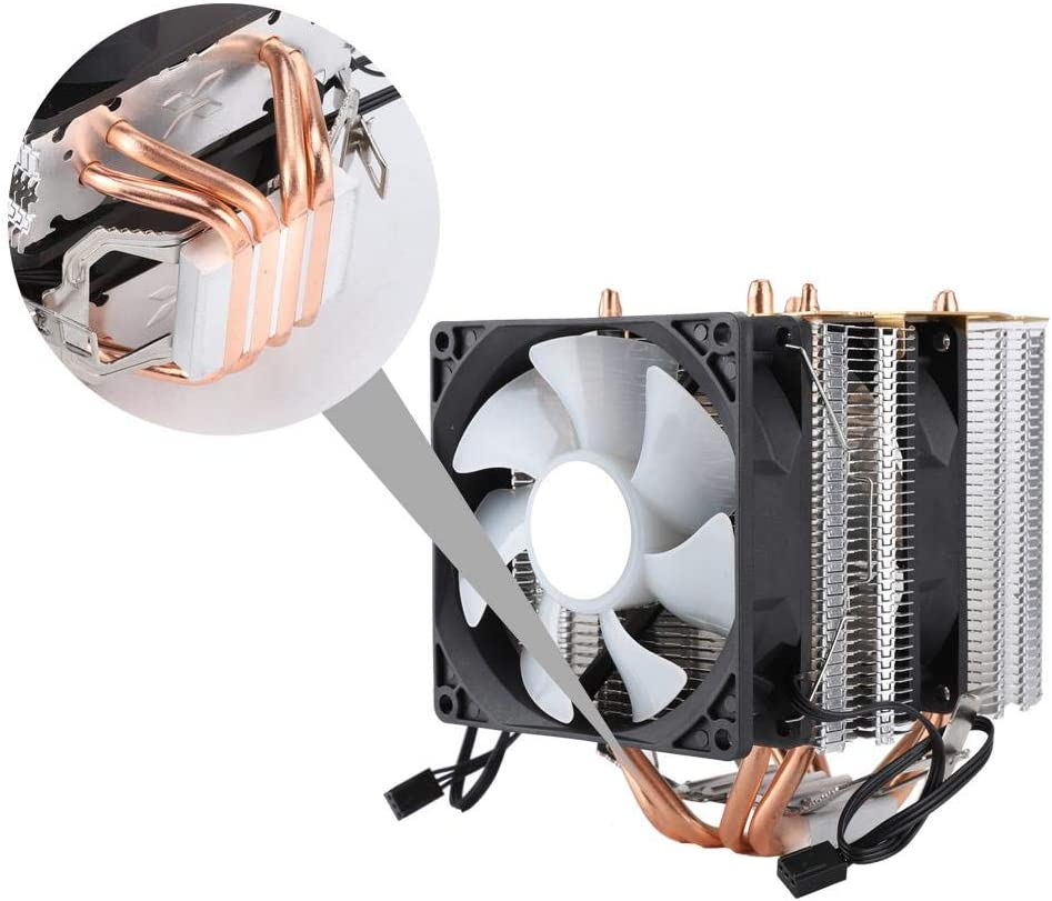 Low Profile for Intel LGA 775//1155 and AMD CPUs Diyeeni RGB LED Computer CPU Cooler with 4 Heatpipes 90mm PWM Fan Computer Case Radiator Ultra Quiet with 3pin Connector