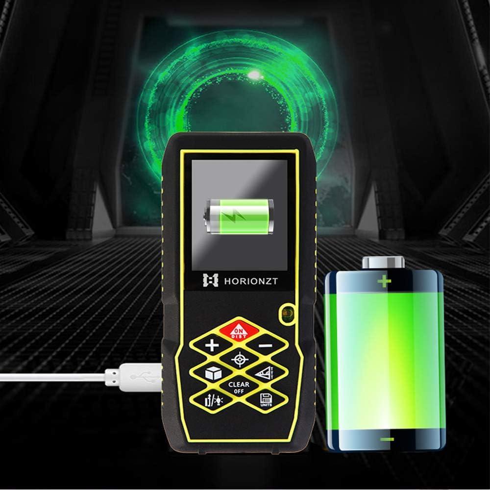 ensembles de stockage de donn/ées Fonction mute Recharge USB,avec sac 100m T/él/ém/ètre laser num/érique Cible vid/éo Mesure du th/éor/ème de longueur Zone Volume Th/éor/ème de Pythagore