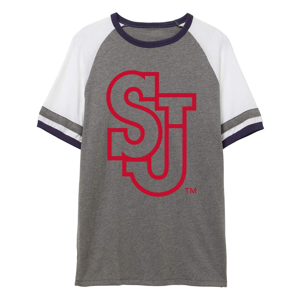 NCAA St Johns Red Storm PPSTJ02 Unisex Slapshot Vintage Jersey T-Shirt