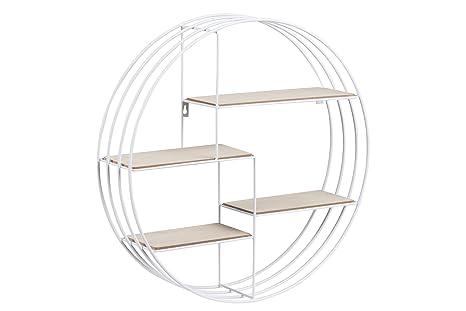 Ac design furniture nadine regal legno bianco 10 x 45 x 45 cm