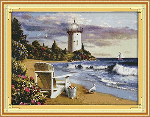 Cross stitch kits for lighthouse - Eafior DIY Handmade Needl