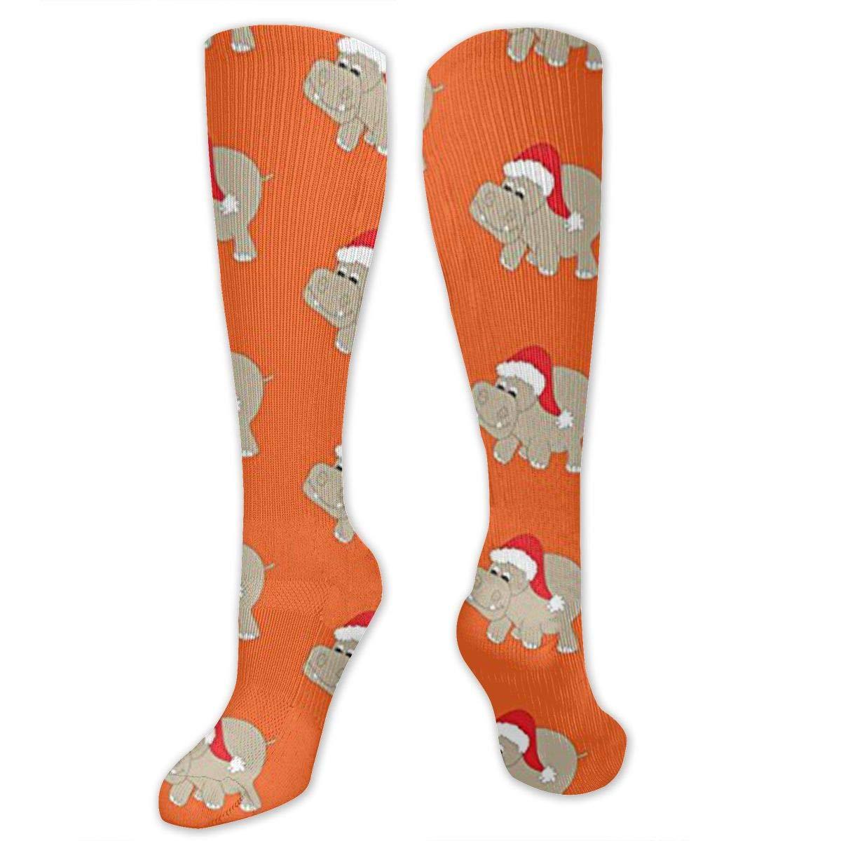 Best Medical,for Running Ygsdf59 Santa Hippo Orange Compression Socks for Women and Men Travel Varicose Veins Athletic
