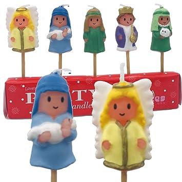 5 Mini Velas de * Navidad * en soporte de madera para ...
