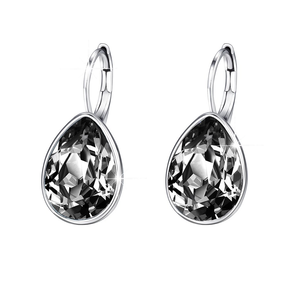 c346be9a8dec See all customer reviews · Xuping Halloween Luxury Crystals from Swarovski  Huggies Hoop Earrings Black Friday Women Jewelry Gifts product image