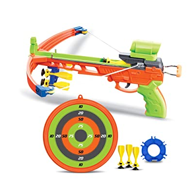 Crossbow Kids Archery Set | Toy Crossbow Set Includes Archery Target and Suction Darts | Best Crossbow for Indoor or Outdoor | Toy Bow and Arrow (Crossbow): Toys & Games