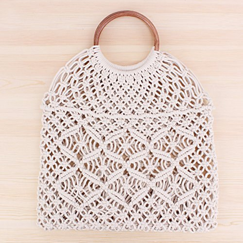 Beach Square Straw Retro Travel Straw Black Bag Shoulder for Knitted Use Bag Qinlee White Lady Handbag Handmade 2 Rattan and Everyday qxCEAXYwO