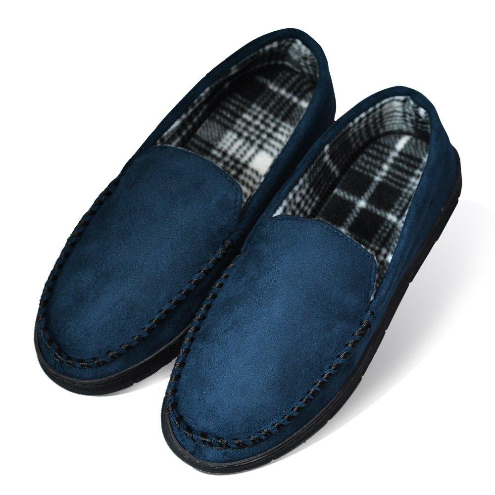 LA PLAGE Men's Casual Anti-Slip Indoor/Outdoor Slippers Hardsole Size XL US Navy