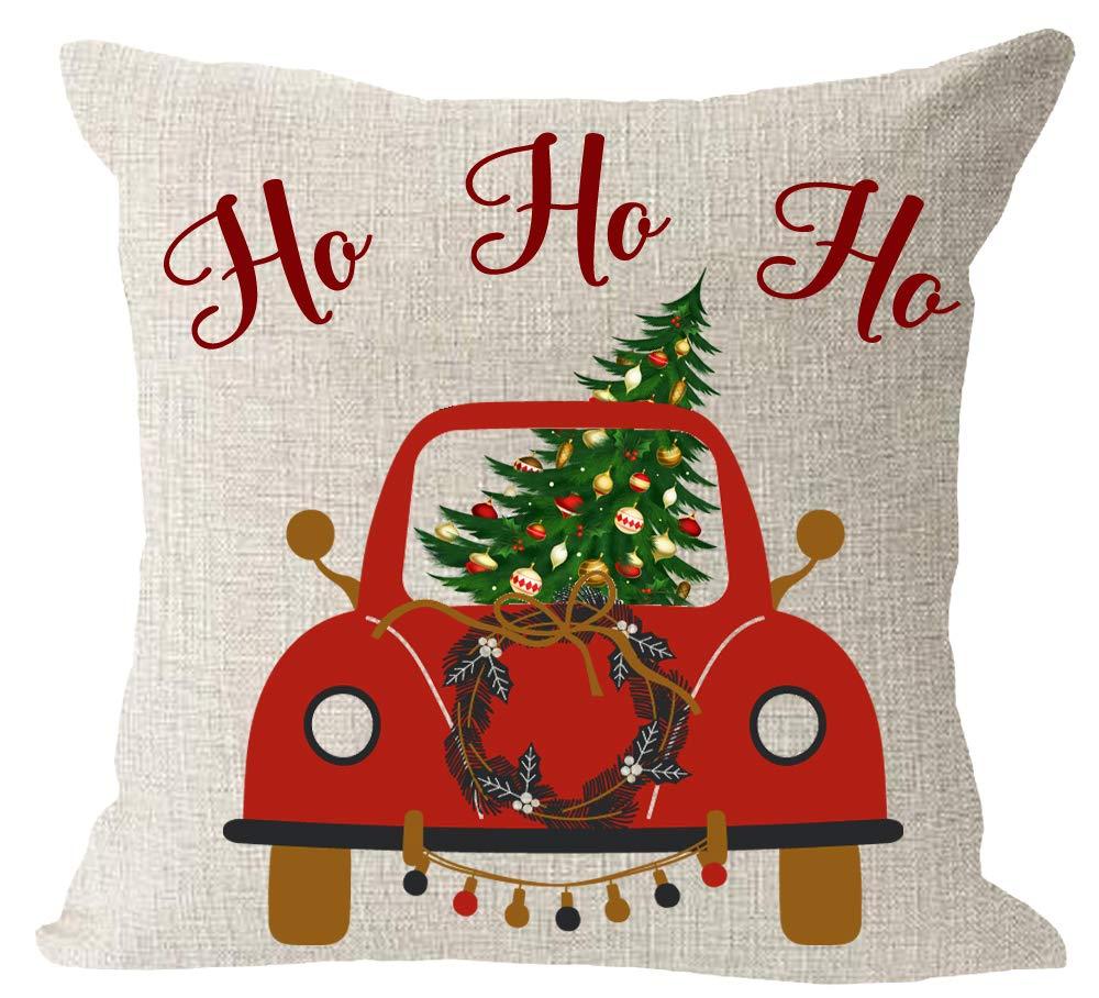 Amazon.com: Funda de almohada cuadrada de lino y algodón con ...