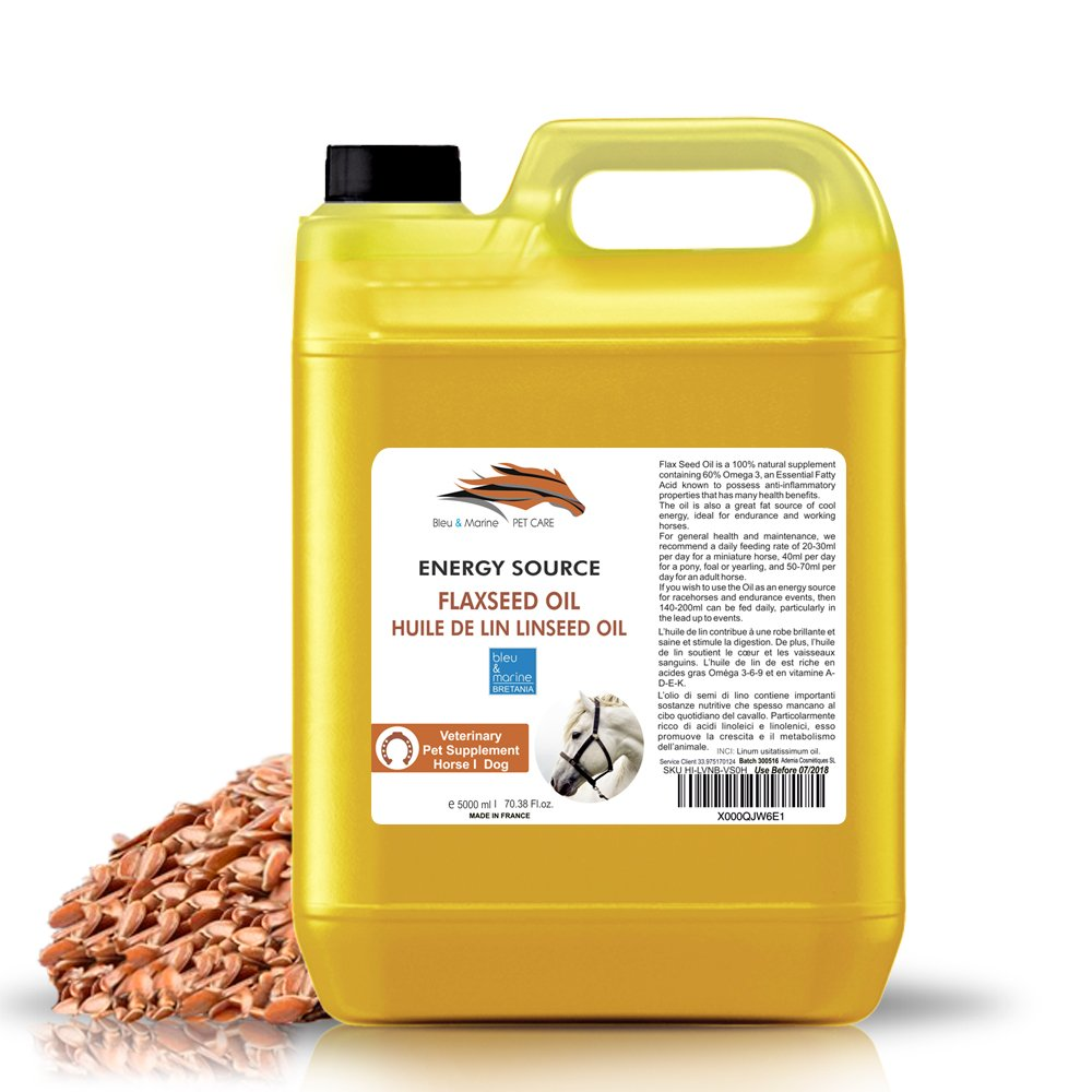 Olio di Lino Cavalli e Animali Domestici 100% Natural 5000 ml Made in France