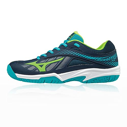 Mizuno Scarpe Pallavolo Bambino Lightning Star Z3 Jr SurftheWeb/White/Orange (EU 33)