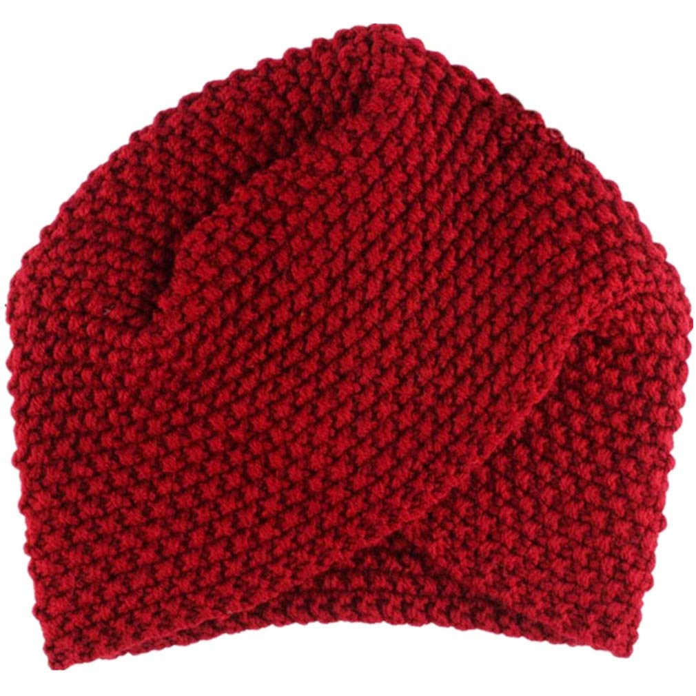 TWGONE Sleeve Cap Fashion Women Ladies Warm Winter Knitted Hat One Size)