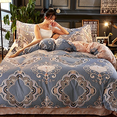 "Cheap KFZ Bedding Duvet Cover Set Flat Sheet Pillowcases 4pcs/set No comforter SM Twin Full Queen King Mood Travel Classic Article Plaid Design for Adults Children (Artical, Pink, King, 86""x95"") for cheap"