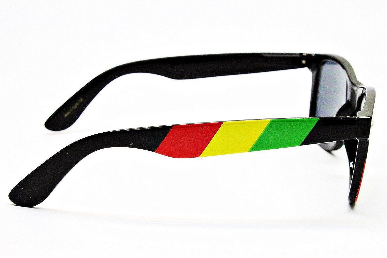 Jamaican Colors flag Rasta Stripes Square Sunglasses Jamaican Reggae