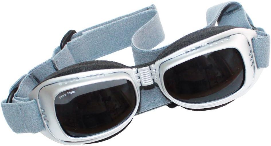Cabrio Brille f/ür Hunde Zugluftbrille Verstellbar 3 Gr/ö/ßen Mit Schutztasche