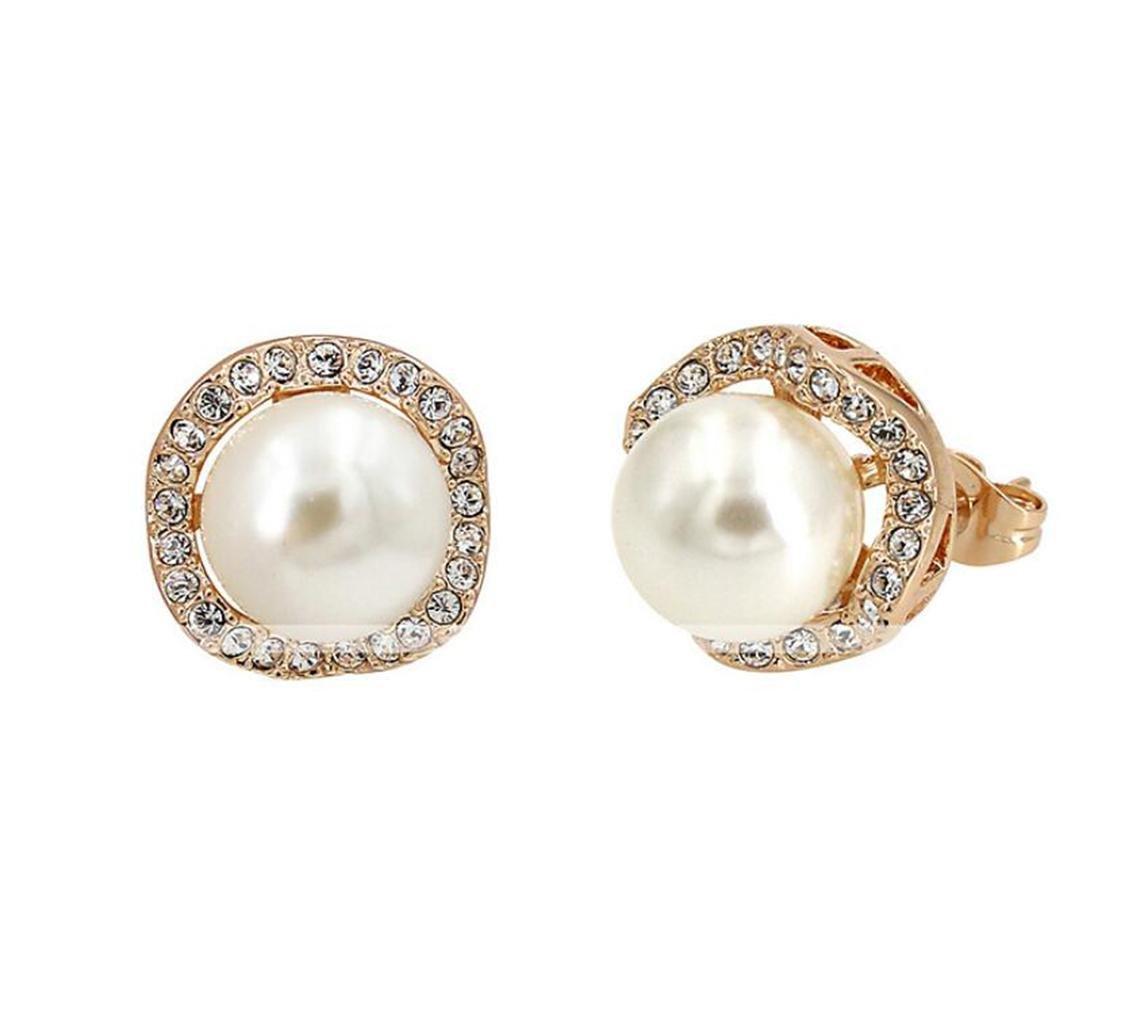 満点の GYJUNイヤリング模造真珠/AAAキュービックジルコニアスタッドジュエリー女性パーティー/日常の金メッキ1ペア、ゴールド B078NT59ZQ、ワンサイズ B078NT59ZQ, 阿波郡:8a13a494 --- a0267596.xsph.ru