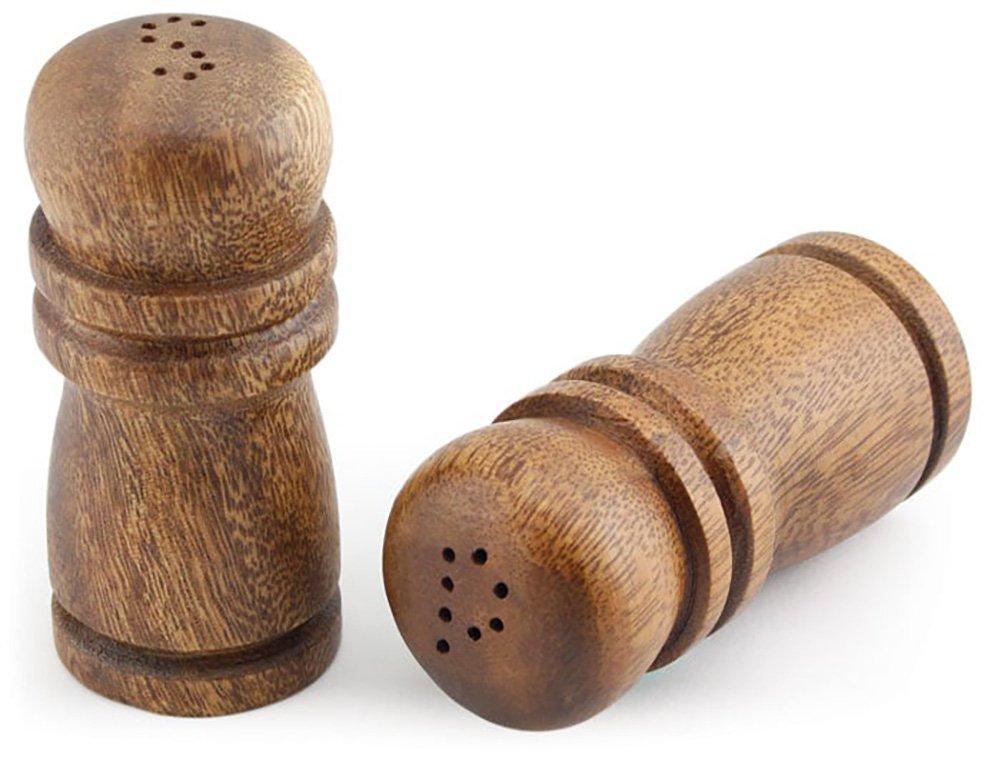 Acacia Wood Salt & Pepper Shakers 4'' Tall