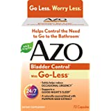 AZO Bladder Control with Go-Less Dietary Supplement – Helps Control the Need to Go to the Bathroom* & Reduce Occasional Urgency* – Supports a Good Night's Sleep* – Naturally Sourced – 72 Capsules