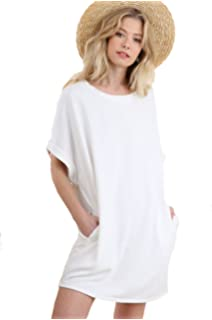 6b4a58b641 Paradise Bay Womens Solid Split Neck Terry Dress Cover-Up at Amazon ...