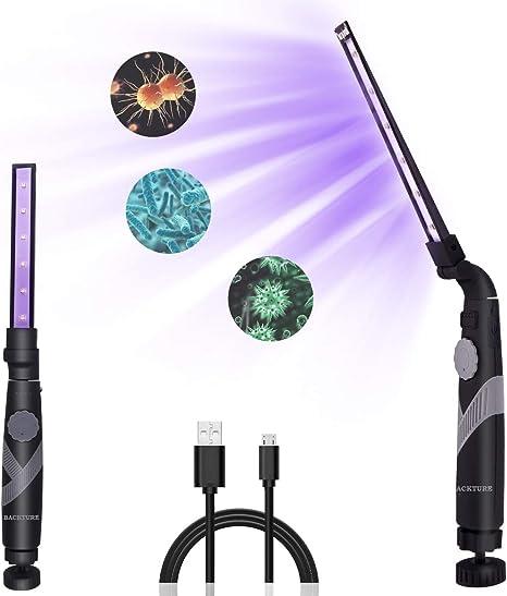 BACKTURE Lámpara de Esterilización UV, Lámpara Germicida ...