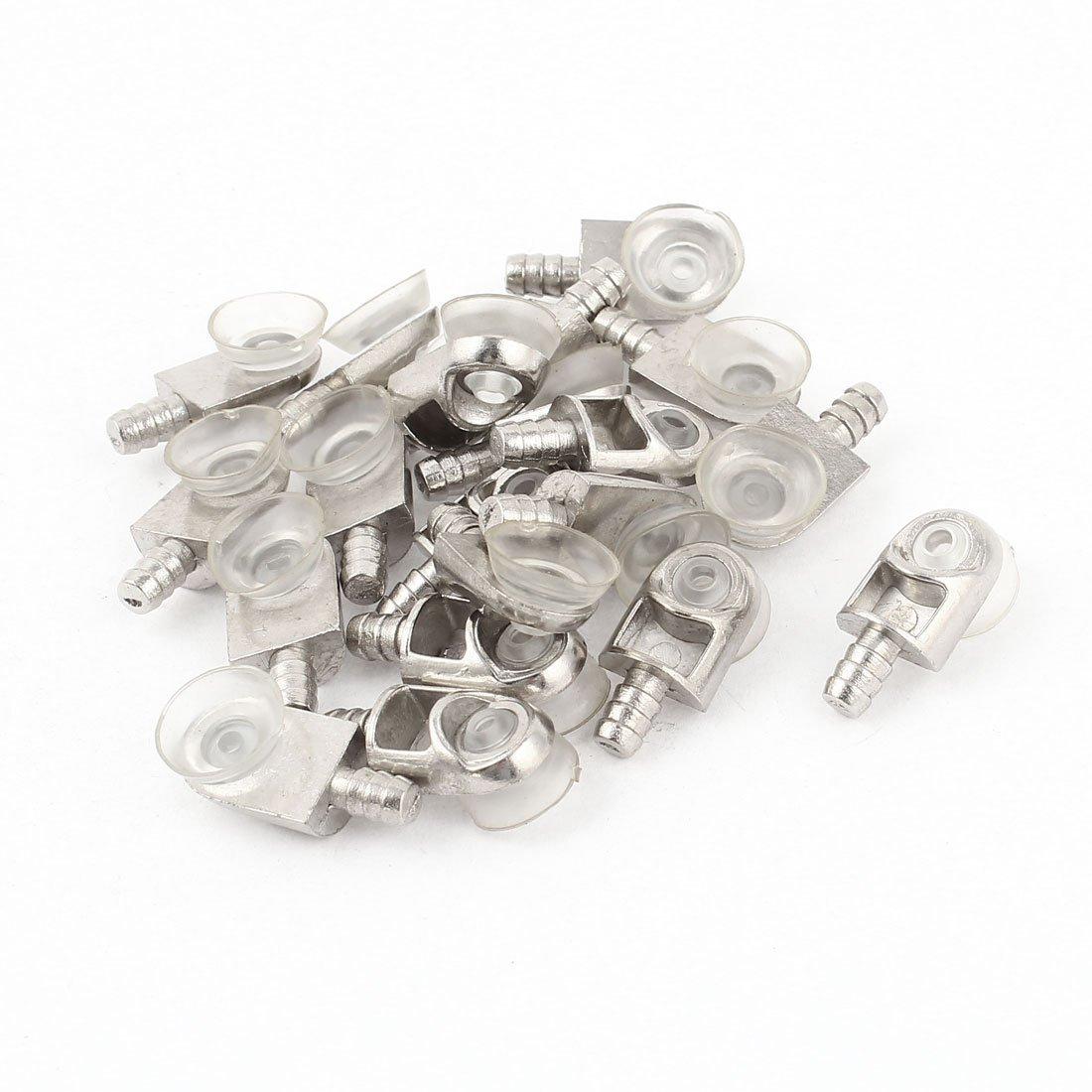MiKi/&Co Saugnapf Unterst/ützung Cabinet Regal Glas Einlegeb/öden Pin Halter 20 St/ück