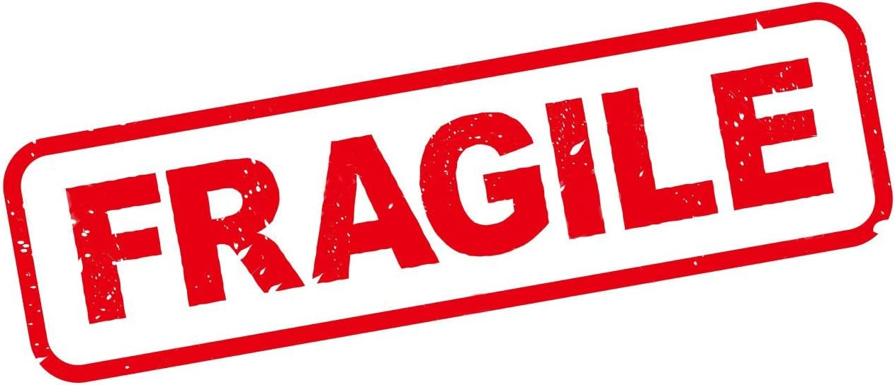 Paquete de 15 etiquetas adhesivas para envío por correo frágil, 8 1/4 x 4 1/2 pulgadas: Amazon.es: Oficina y papelería