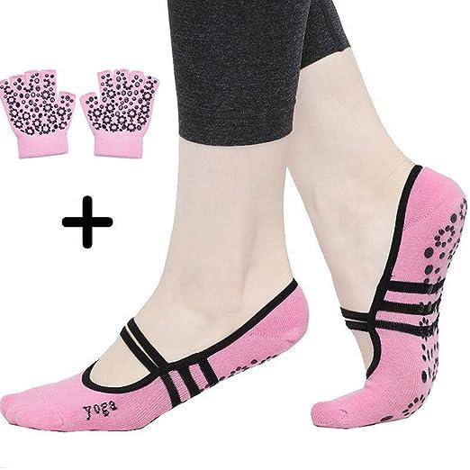 Amazon.com: Yoga Socks and Gloves - Women Non Slip Skid Yoga ...
