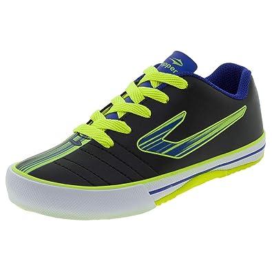 b61e5e7acc Tênis Infantil Masculino Futsal Recreio Preto Azul Topper - 4200430 ...