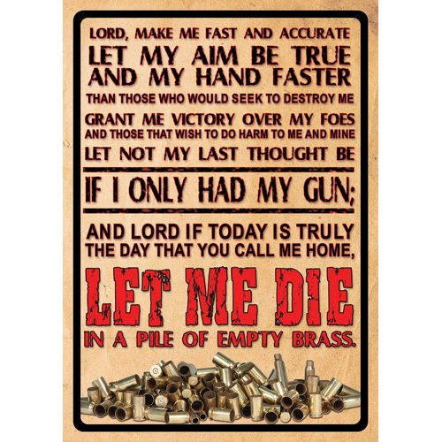 River's Edge Products Lord'S Prayer Tin Sign 16 1500
