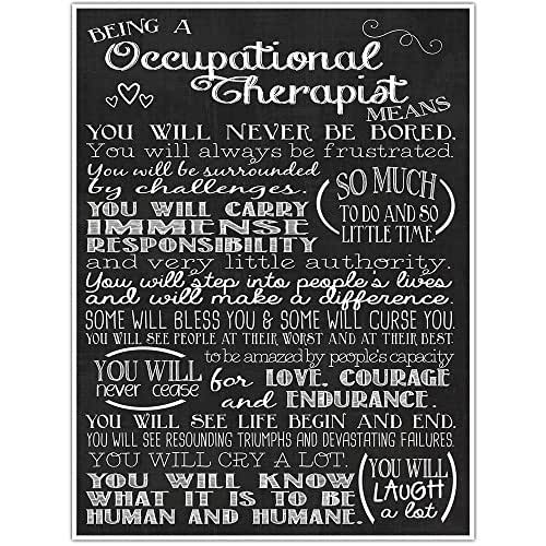 Being a Occupational Therapist Means Subway Sign Chalkboard Art Poster - Graduation Gift for Occupational Therapist Health Care